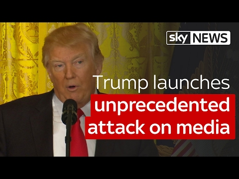 Donald Trump attacks the media in heated news conference