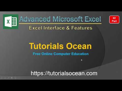 Part 02 Advanced Microsoft Excel Interface & New Features in Urdu/Hindi