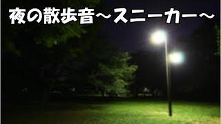 ASMR夜の散歩スニーカー音フェチ