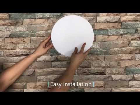 LED Light Home Modern Panel Light Ceiling Lamp Natural Light Warm White Cold White Round Square Living Room