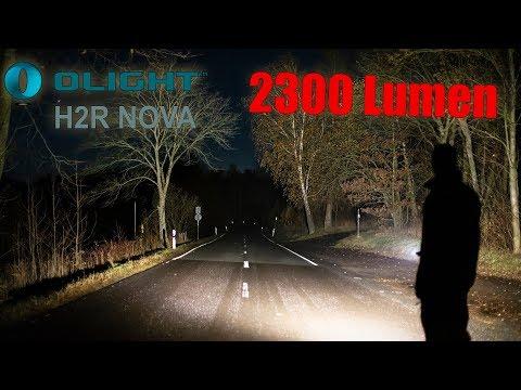 Stirnlampe mit ordentlich Lumen! - Olight H2R Nova