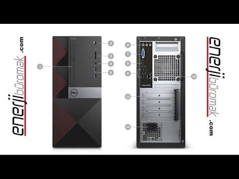 Open the Dell Vostro 3668 box. Dell Vostro 3668 unboxing.