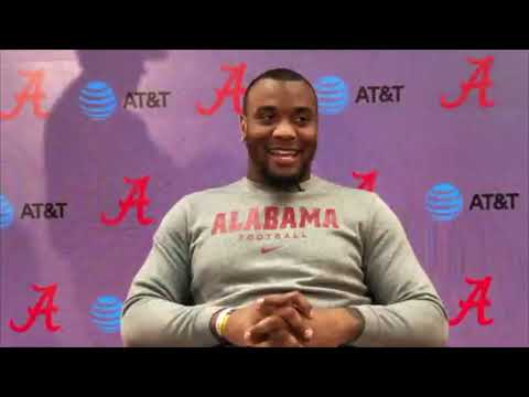 Raekwon Davis talks about Alabama's defense heading into game against Tennessee