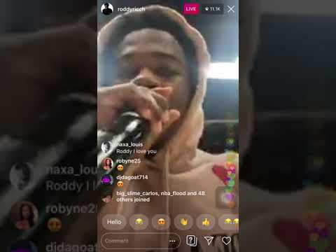"Roddy Ricch ""The Box"" Instagram Live"