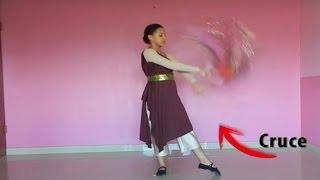"""Tutorial de Aro de Lluvia/Aro de Gloria/Tabroit rutina """"Redención"""" (Danza Cristiana)   Sarah Yuritza"""