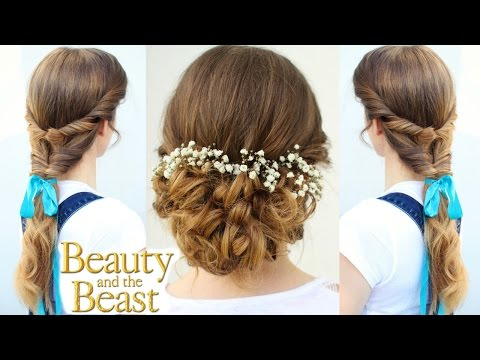 Emma Watson's Belle Inspired Hairstyles | Beauty and the Beast | Braidsandstyles12