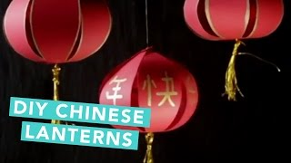 How To Make Chinese Lanterns | Easy DIY | Craft Factory