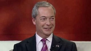 Nigel Farage reacts to Donald Trump's victory