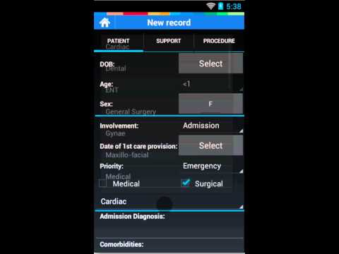 Video of Intensive Care Logbook