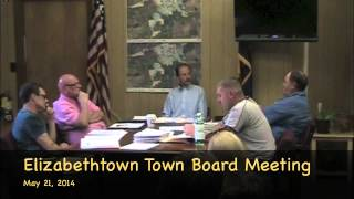 preview picture of video 'Elizabethtown, NY May 21, 2014 Town Board Meeting'