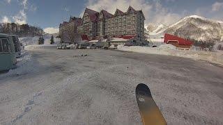 初めての裏コルチナ お手軽バックカントリー 白馬コルチナスキー場 裏コル Backcountry Area In The Hakuba Cortina Ski Resort.