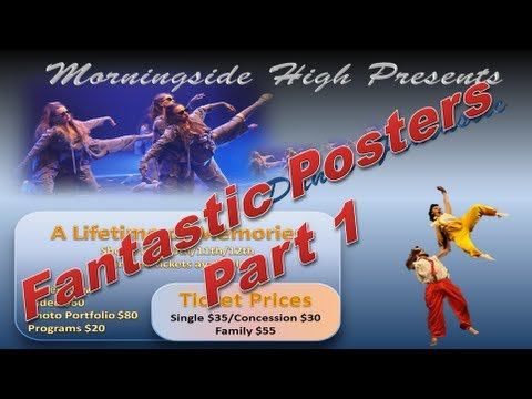 Make Poster - Design a Poster like a Pro in Powerpoint 2010 Part 1