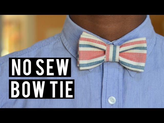 Diy No Sew Bow Tie Victoralexanderco Mp3fordfiestacom