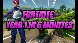 Fortnite Year 1 in 6 Minutes.