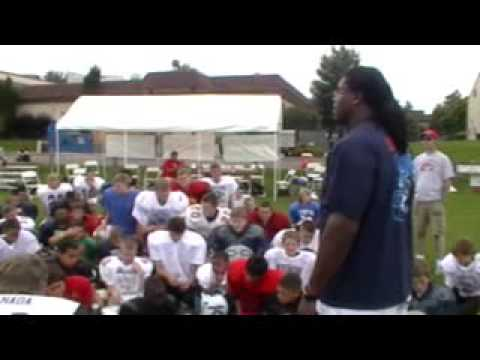 Ryan Clady at Denver's Offense Defense Football Camp