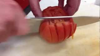 How to dice a tomato correctly - chef