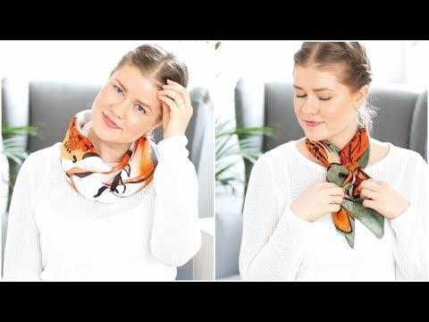 Halstuch binden TIPPS & TRICKS   Die 8 schönsten Techniken