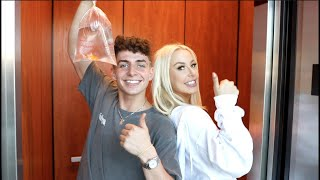 Living In Tana Mongeau's Elevator For 24 Hours!