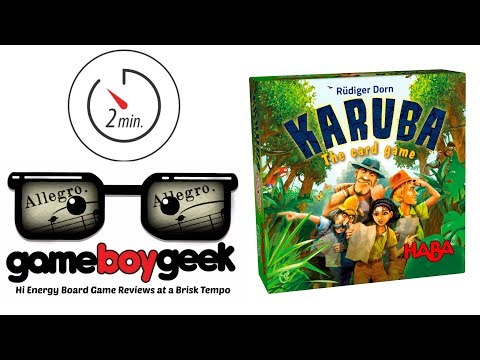 The Game Boy Geek's Allegro (2-min Review) of Karuba the Card  Game
