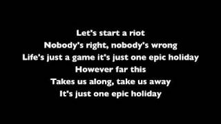 Angels & Airwaves - Epic Holiday (With Lyrics)