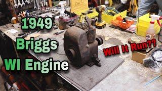 1949 Briggs WI Engine - Will It Run??
