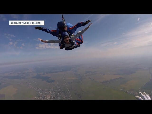 Ангарчанин готовится к рекордному прыжку с парашютом
