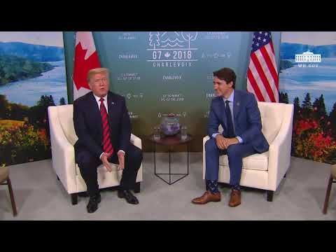 President Trump Participates in an Expanded Bilateral Meeting with the Prime Minister of Canada