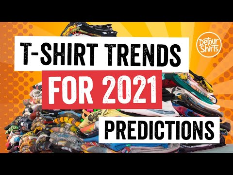 Top 10 T-Shirt Design Trends for 2021    My fashion predictions for Print on Demand t shirts.
