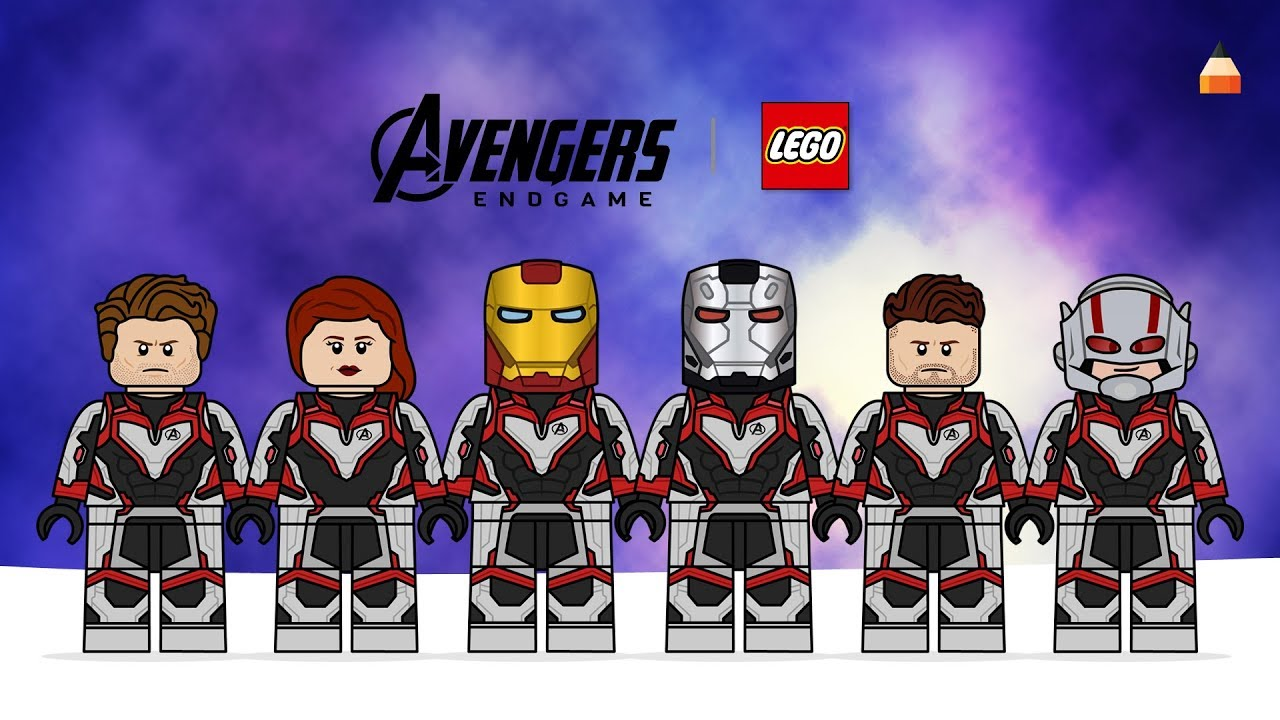 Avengers Endgame Drawing Lego Minifiures Part 2 Captain America