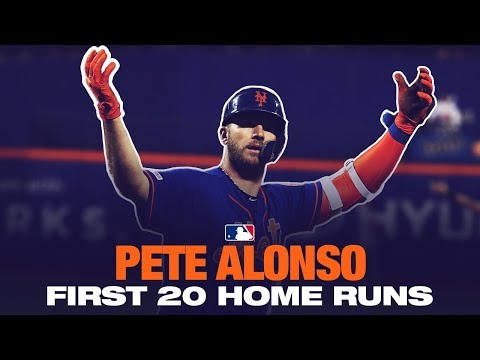 Pete Alonso's First 20 Home Runs
