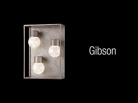 Video for Gibson Metal Three-Light LED Outdoor Wall Sconce
