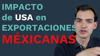 ¿Qué efecto tiene el PIB de Estados Unidos en las exportaciones mexicanas?