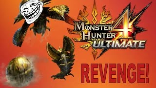 Monster Hunter 4 Ultimate 3DS - Konchu TROLL + REVENGE! (Funny Moments)