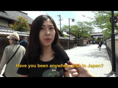 Travelers' Voice of Kyoto:GION Area Interview 007