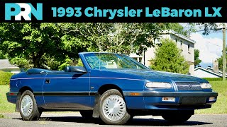 Barn Find & Show Room Ready | 1993 Chrysler LeBaron LX Convertible Full Tour & Review