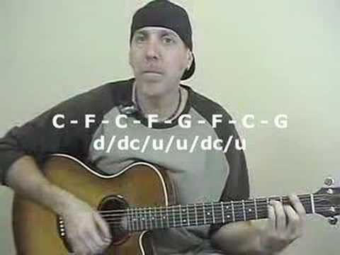 Learn To Play Acoustic Guitar chuck open and bar chords