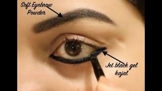 Super Affordable 2-in1 Gel Eyeliner Kajal & Eyebrow Powder 24 Hrs | Swatch, Review & Demo 👁