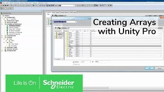 Download Creating Arrays with Unity Pro | Schneider Electric