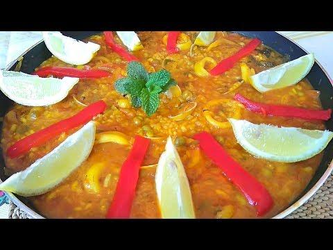 Es el arroz comida de domingo? Arroz con calamares y almejas | El Dulce Paladar