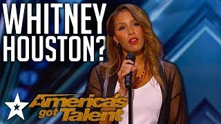 """Singer Smashes Whitney Houston Cover """"Run To You"""" on America's Got Talent 