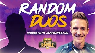 Random Duos - Ninja Matches The Coolest 7 Year Old!! - Fortnite Battle Royale Gameplay