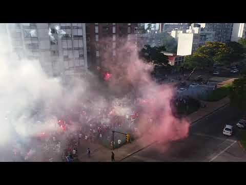 """""""Banderazo hinchada de Nacional 3/2/2019(1)"""" Barra: La Banda del Parque • Club: Nacional"""
