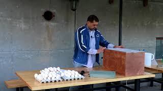 Инкубируем яйцо Пушкинских кур. Инкубатор БЛИЦ-120Ц.ч.1 Закладка.