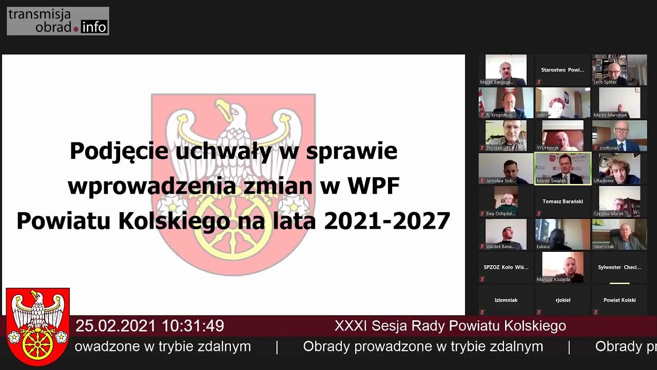 Zdjęcie do XXXVII sesja Rady Powiatu Kolskiego