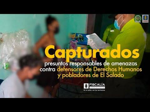 Fiscal Barbosa: Capturados presuntos responsables de amenazas a defensores de DD.HH. de El Salado