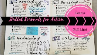 Tips to Lead a Full Life Part 3 - Bullet Journal for Action