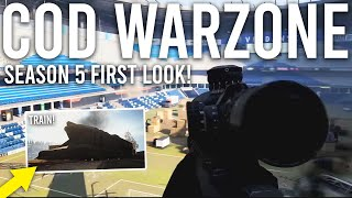 Call of Duty Warzone Season 5 FIRST LOOK! ( Moving Train, Stadium and More! )