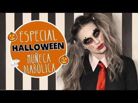 Tutorial Halloween muñeca diabólica - Vanesa Romero TV