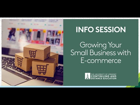 How to Grow Your Small Business with E-commerce UVM Info ...