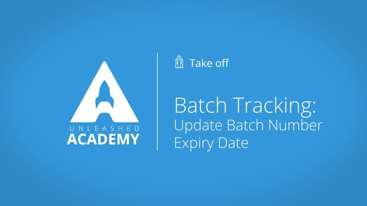 Batch Tracking: Update batch number expiry date YouTube thumbnail image